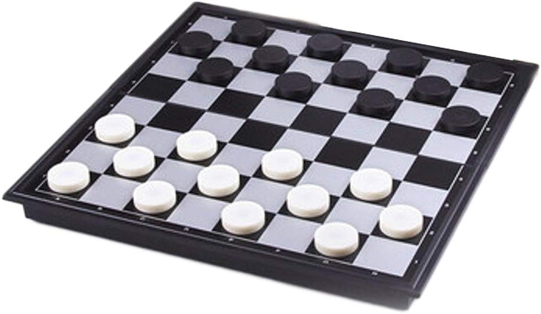 LOFAMI Traditionelle Spiele Schach Kreative Kunststoff Dame Schach Kinder Studenten Puzzle 64 100 Raster Magnetische Schachfiguren Falten Tragbare Dame Schach Schach (Farbe   64 Grid)