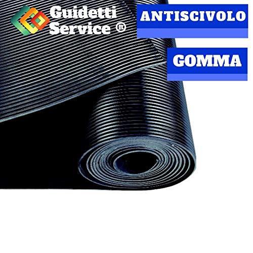 Alfombra de goma antideslizante de rayas, altura 120 cm de Guidetti Service