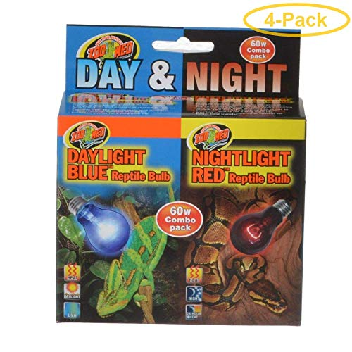 Price comparison product image Zoo Med Day & Night Reptile Bulbs Combo Pack 60 Watts - Combo Pack - Pack of 4