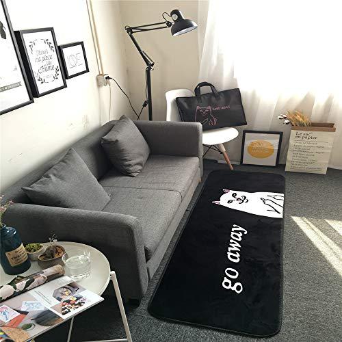 Mishxh tapijt, zwart, antislip, waterdicht, zacht, pluizig, geschikt voor woonkamer, slaapkamer, keuken, hal. 120x200cm