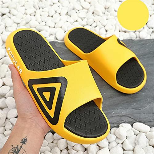 ShSnnwrl Zapatillas Antideslizantes Chanclas de Playa al Aire Libre Zapatos de Verano Hombre Mujer Diapositivas Sandalia Amarilla Zapatos de Ducha 39 Amarillo