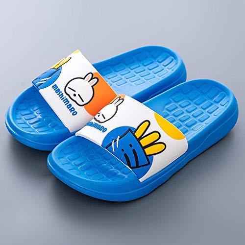 LLGG Antideslizantes Playa Piscina Ducha Sandalias,Pareja de Zapatillas de casa, baño Anti-Patinaje-Azul_43,Suela Suave Zapatos De Piscina Casa