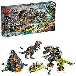 3. LEGO Jurassic World T. rex vs Dino Mech Battle 75938