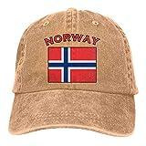 AOHOT Classic Hombre Mujer Gorras de béisbol,Unisex Adjustable Baseball Cap Norway Flag Snapback Hat