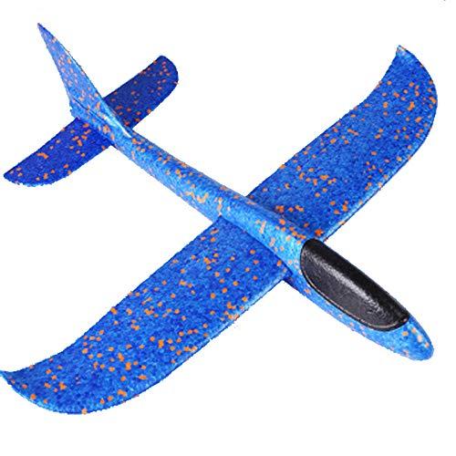 Showlovein Segelflugzeug, Wurfgleiter Gleitflugzeug für Kinder, Flugzeuge Styropor, Manuelles Werfen Flugzeug, Werfen Fliegen Modell, Outdoor-Sports Flugzeug Spielzeug (B)