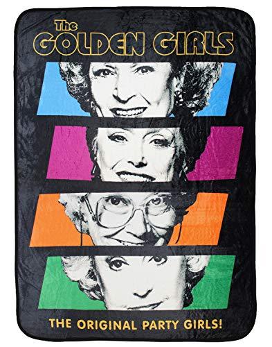 The Golden Girls The Original Party Girls Überwurfdecke aus Plüsch, mit Gittermuster
