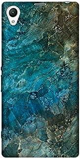 Cupcase® Sony Xperia Z5 Premium Kılıf Telefon Esnek Baskılı Silikon Kapak TPU Case - Mavi Mermer - Kod3018