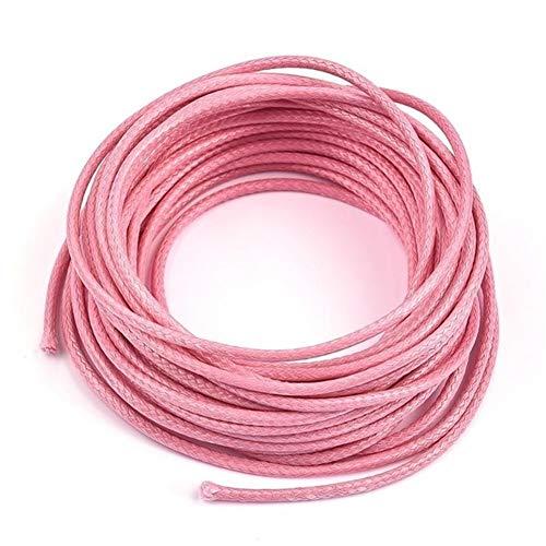 HYCSP 5 metros/paquete de 2 mm encerado cuerda cuerda cuerda rebordear joyería hallazgos para pulsera collar varios colores a elegir (color: 07)