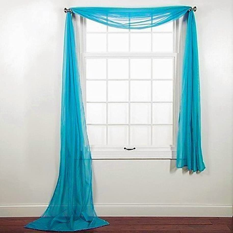 Qutain Linen Unlimited Window Sheer Scarf Valance - 216