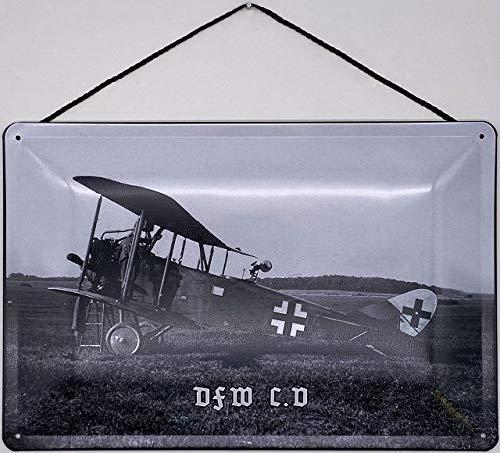 Blechschild Con cordón 30 x 20 cm DFW C.V - Blechemma