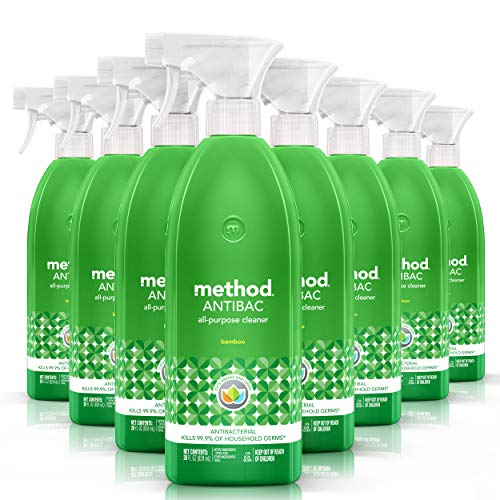 Method Naturally Derived Antibacterial All Purpose Cleaner Spray, Bamboo, 28 Ounce (Pack of 8)