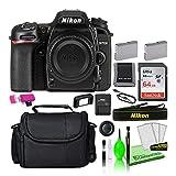 Nikon D7500 20.9MP DSLR Digital Camera (Body Only) (1581) USA Model Deluxe Bundle Kit...