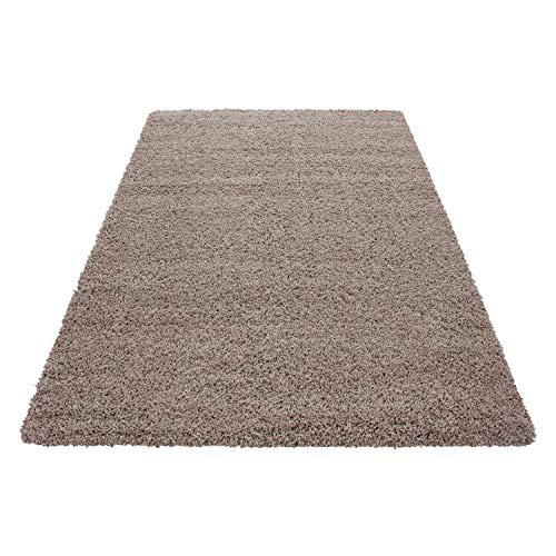 Unbekannt Shaggy Hochflor Langflor Teppich Wohnzimmer Carpet Uni Farben, Rechteck, Rund, Größe:60x110 cm, Farbe:Beige