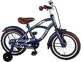 Bicicleta Niño de 14 pulgadas Ruedas Extraíbles Azul 95% Montado
