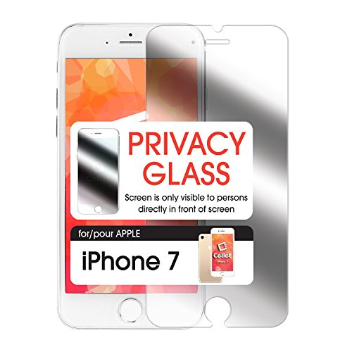 iPhone 7 Screen Protector, Premium Privacy Tempered Glass Screen Protector for iPhone 7 by Cellet- Retail Packaging