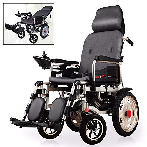 Nobuddy Elektro-Rollstuhl Klapprollstuhl Elektrisch Leicht Zusammenklappbar Vollautomatischer Elektrischer Rollstuhl Faltbar - Elektrorollstuhl Li-Ion-Akku Für Die Wohnung