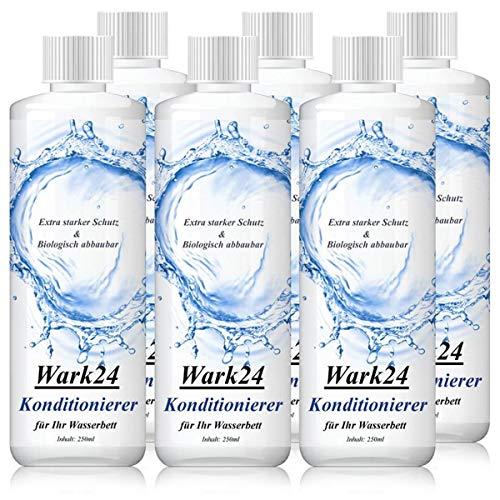 Wark24 Wasserbett Konditionierer Conditioner 250ml - Extra starker Schutz - 20% Wirkstoffgehalt - Biologisch abbaubar - bekämpft wirksam Bakterien, Pilze, Hefen sowie Algen (6er Pack)