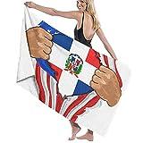 AOOEDM Toallas de baño Bandera de República Dominicana Toalla de Playa Decoración de Hotel Viajes de Verano para Unisex Super absorbentes Toallas de Lavado de Secado rápido largas 80x130 cm