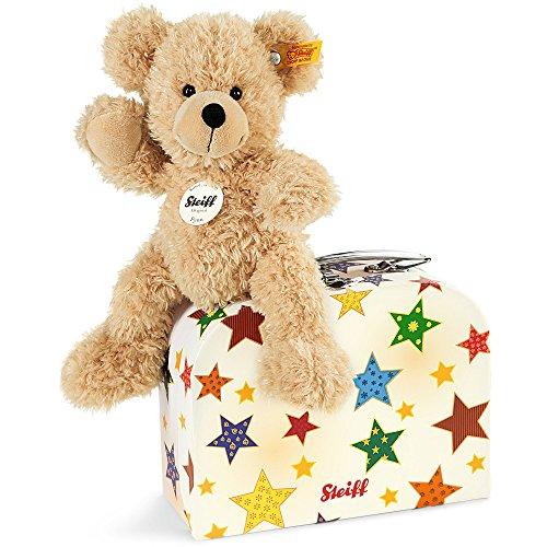 Steiff 111730 - Teddybär Fynn 23 im Koffer, beige