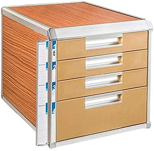 HZYDD Arkivskåp arkivskåp 4:e våningen innovation charmig design träfiber kontor filhanterare skåp skrivbordshanterare hem kontor möbler arkivlåda (färg: B) (färg: A)