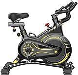 Wghz Bicicleta de Ciclo Interior Profesional: aplicación multijugador, Sistema de Freno magnético controlado por computadora, Volante de inercia de 6 kg, manillares Deportivos, ergómetro, sensore