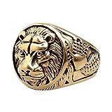 EzzySo Anillo de león dominante, joyería de Anillo de Personalidad Estadounidense (2 PCS),B,8