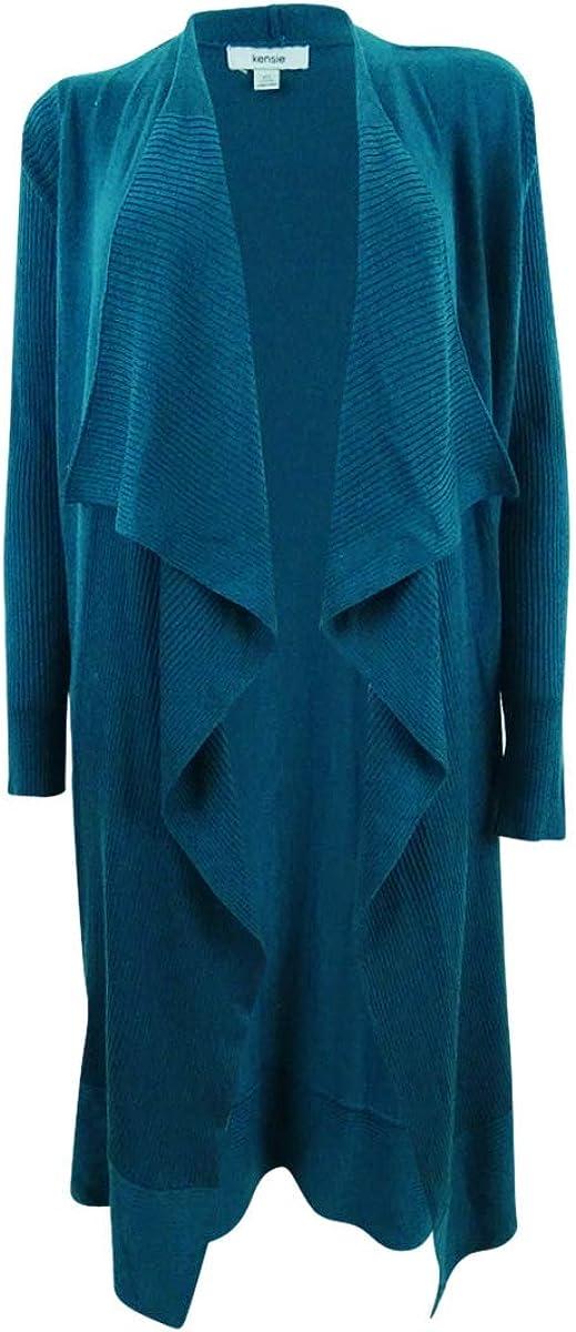 kensie Women's Soft Open Waterfall Drape Sweater Cardigan