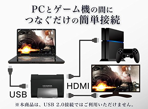 I-ODATAキャプチャーボードゲームキャプチャーHDMIPC用USB3.0ゲーム実況録画編集ソフト付GV-USB3/HD