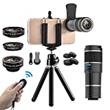 Vorida Smartphone Camera Lens 6 in 1 Cell Phone Camera Lens 12X Telephoto