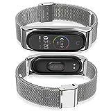 AHANGA pour Xiaomi Mi Band 4 Bracelet Mi Band 3 Strap Ajustable en Acier Inoxydable Watch Bracelet...