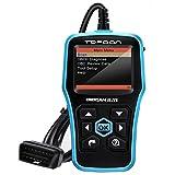 Topdon OBD2 故障診断機 日本語サポート ABS SRS機能 診断機 スキャンツール OBD2 コードスキャナー コード リーダー ベンツ bmw アウディ スズキ バイク スバル など用 -Elite
