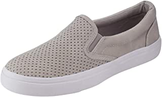 Women's Perforated Slip-On Sneaker Casual Flat Walking Shoes