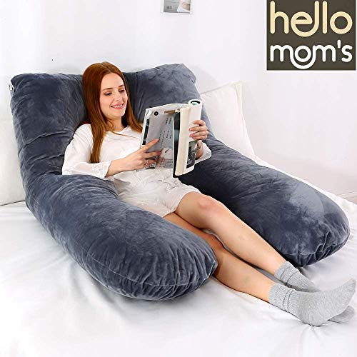 Hello MOM'S Made in India Cotton Ultra Soft Fabric Pregnancy/Maternity Pillow (229 X 115 X 22 cm)