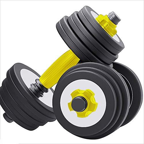 YUESFZ Dumbbell Mancuernas Pesa Silenciosa Extraíble Equipo De Gimnasia Ajustable para El Hogar Juego Universal con Mancuernas 10 Kg / 15 Kg / 20 Kg / 30 Kg / 40 Kg (Color : Black, Size : 5kg*2)