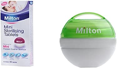 Milton Mini Portable Soother Steriliser & Mini Sterilising Tablets (Contains 50 Tablets) (Dispatched from UK)