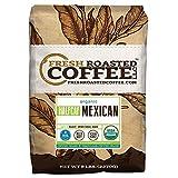 Fresh Roasted Coffee LLC, Organic Swiss Water Half Caf Mexican Chiapas Coffee, Medium Roast, Whole Bean, 5 Pound Bag