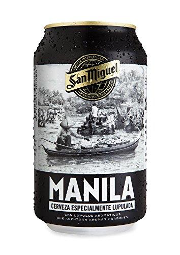 San Miguel Manila Cerveza Dorada Indian Pale Lager, 5.8% Volumen de Alcohol - Lata de 33 cl