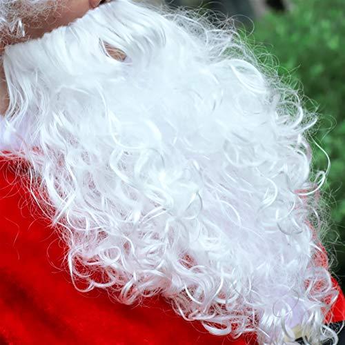 Bidema Santa Claus Disfraces de Navidad Hombres Cosplay Fancy Adultos Trajes Festival Celebracin Trajes Lujosos Velvet Fiesta de Navidad Disfraz (Color : Wigs, Size : 3XL(160 170cm))