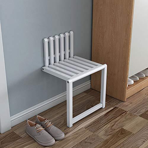 Folding chair An der Wand montierter unsichtbarer Klappstuhl aus Massivholz zum Wechseln der Schuhe Eingang Wandmontierter Schuhhocker zum Platzsparen und Laden von 300 kg