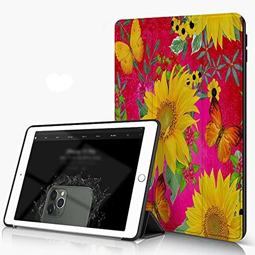 She Charm Carcasa para iPad 10.2 Inch, iPad Air 7.ª Generación,Flores Florales,Incluye Soporte magnético y Funda para Dormir/Despertar