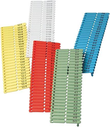UKAL 109922001 - Ovins - Identification - Boucles - Boucles de marquage TAG marquage de 1 à 100 blanc par 100