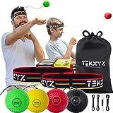 TEKXYZ Boxing Reflex Ball Family Pack   2 Adjustable Headbands + 2 Novice Reflex Balls + 1 Veteran Reflex Ball + 1 Boxer Reflex Ball and More