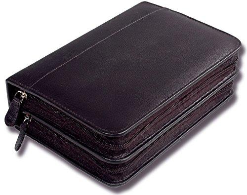 Taschenapotheke für 120 Globuli Gläser feines Rindnappa-Leder schwarz