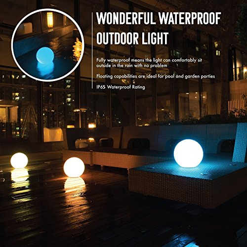 SUNWIND Solar Pool Ball Light Outdoor Color Changing LED Floating Lights with Remote Control for Garden Pool Patio Party Decoration (8-Inch Ball)