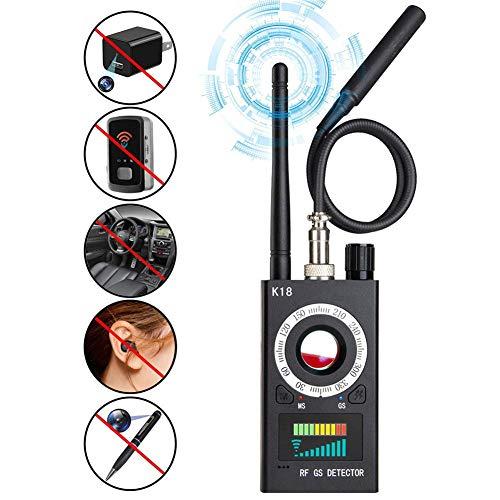 HLDUYIN Detector Anti espía, Detector de RF y buscador de cámara, Detector de señal de RF actualizado, Dispositivo de Seguimiento para Detector de cámara Oculta de Errores de Audio inalámbrico