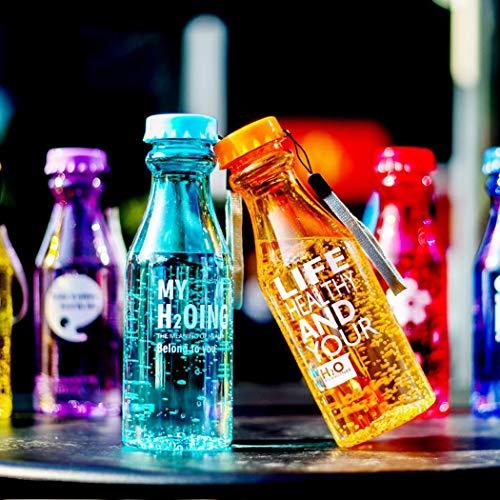 Voiks Sports Water Bottle Leak Proof 550ml Plastic Drink Bottles|Kids,Adults,Gym,School,Sport,Cycling|BPA Free Reusable