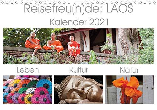Reisefreu(n) de: Laos (Wandkalender 2021 DIN A4 quer)