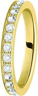 Morellato Anello da donna, Collezione Love Rings, in acciaio, PVD oro giallo e cristalli - SNA39012