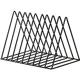 Triangle File Folder Racks and Magazine Holder,10 Lattice Metal Newspaper Holder Magazine File Storage for Office Home Decoration,Black By Cq acrylic