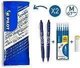 Pilot Spain Frixion Clicker - Set de 6recargas y 1goma, color azul